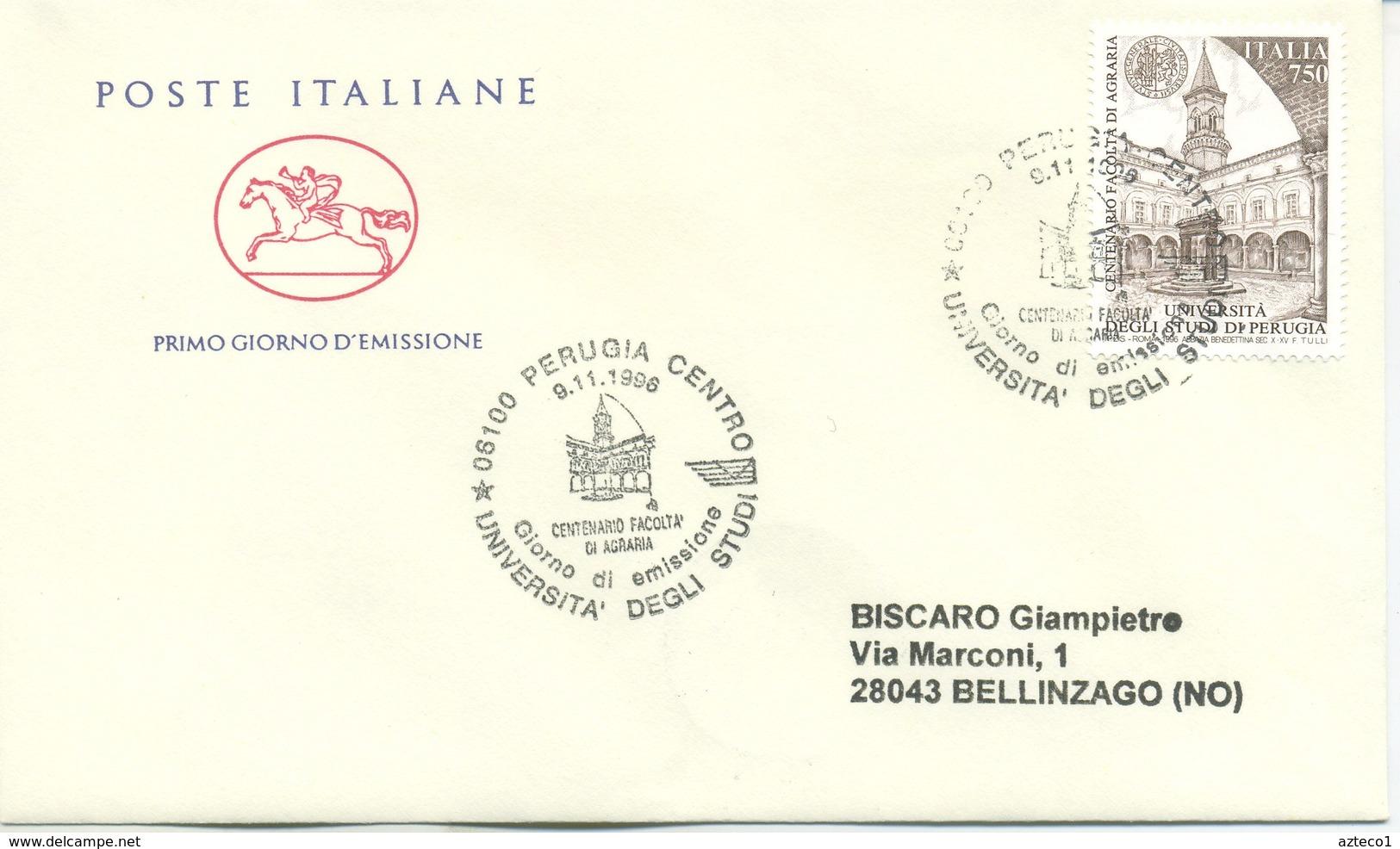 ITALIA - FDC  CAVALLINO 1996 -  SCUOLE D'ITALIA  -  ANNULLO SPECIALE - 6. 1946-.. Repubblica