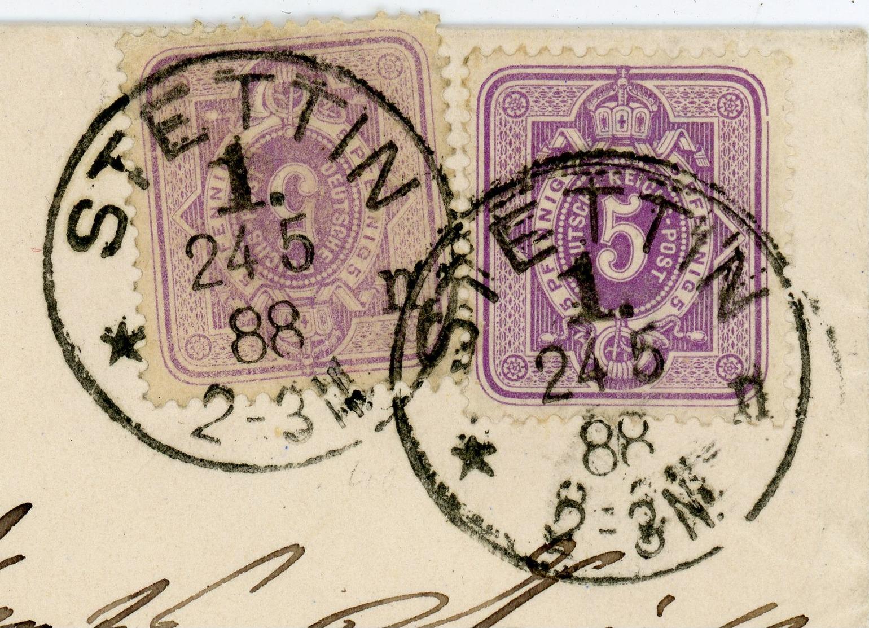 Nr 40 Verschiedene Auflagen MEF 1888 Fernbrief Stettin - Charlotteburg - Briefe U. Dokumente