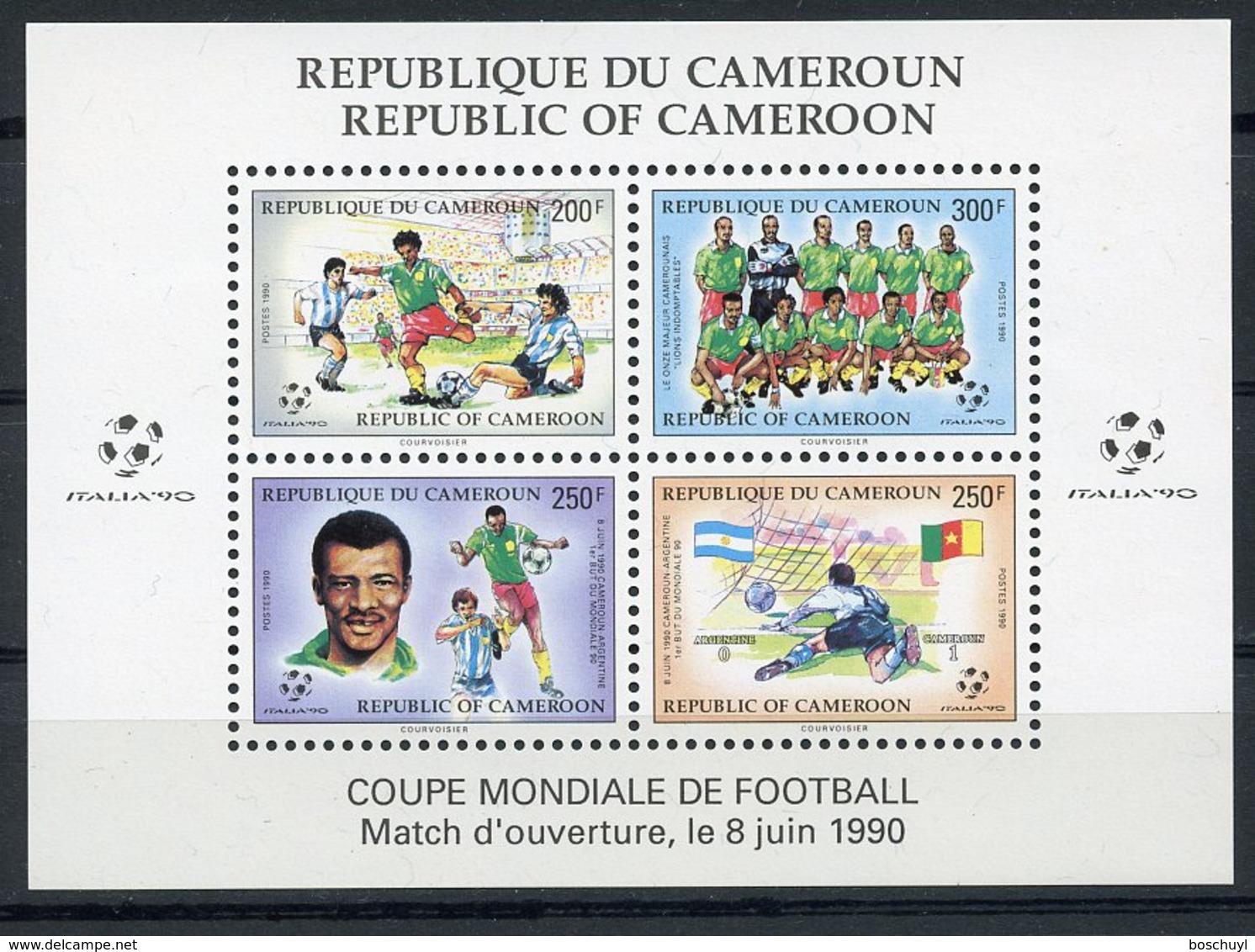 Cameroun, 1990, Soccer World Cup Italy, Football, MNH, Michel Block 25 - Kamerun (1960-...)