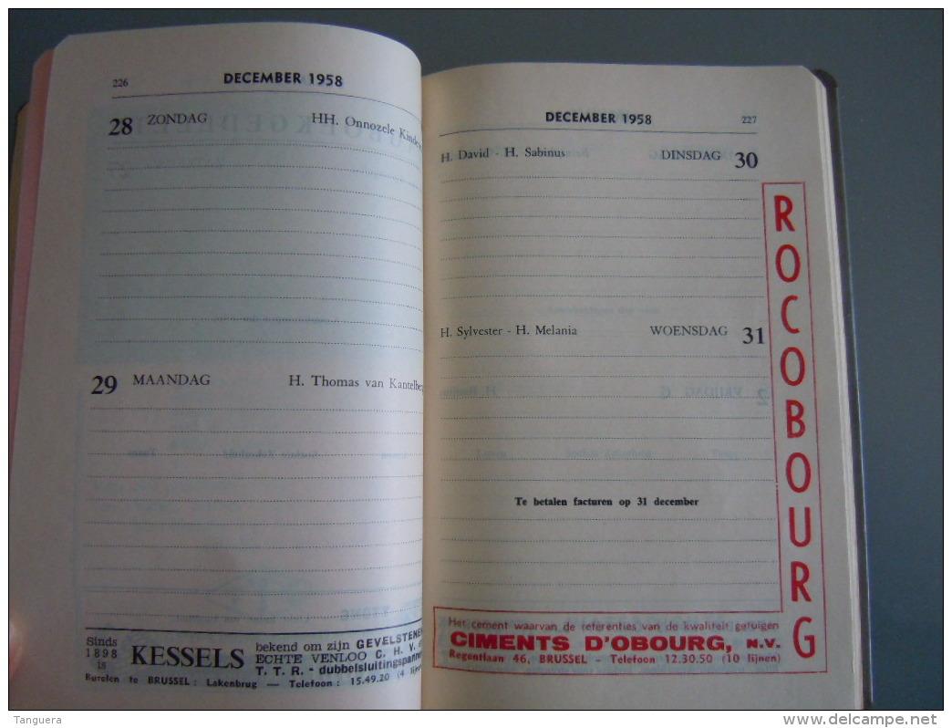 Vlaamse Bouw-en Aanbestedingskalender 1959 Uitgave De Bouwkroniek Brussel Agenda Du Batiment Et Des Adjudications - Praktisch