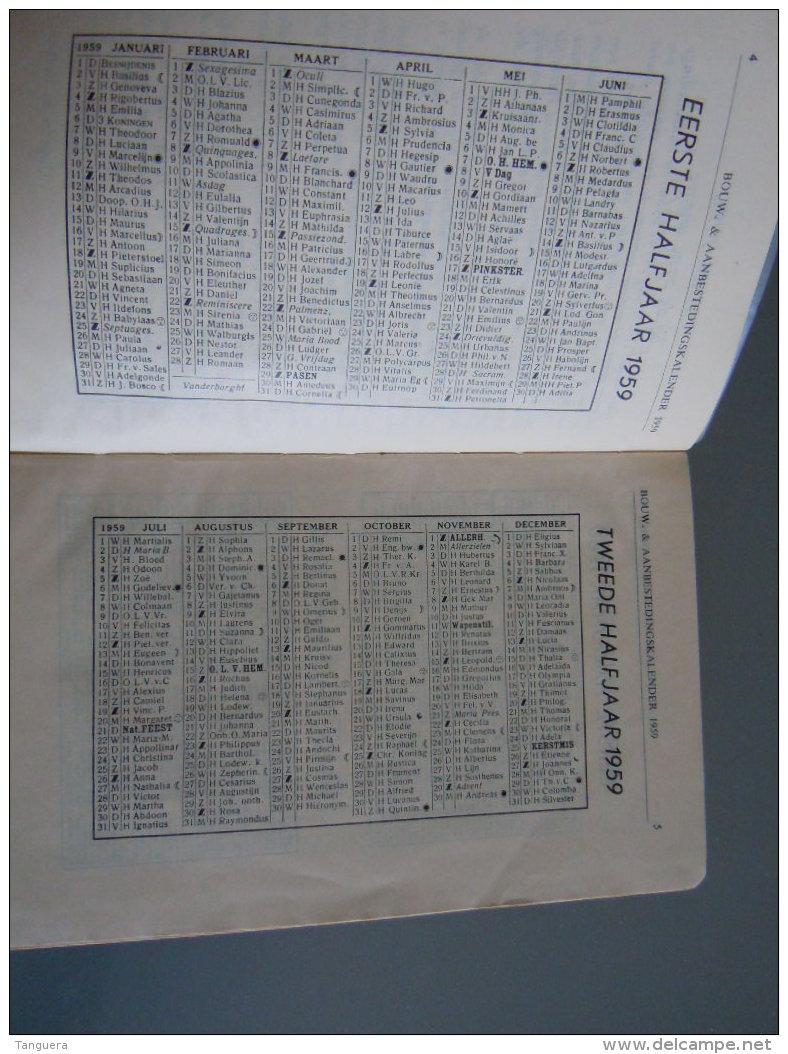 Vlaamse Bouw-en Aanbestedingskalender 1959 Uitgave De Bouwkroniek Brussel Agenda Du Batiment Et Des Adjudications - Sachbücher