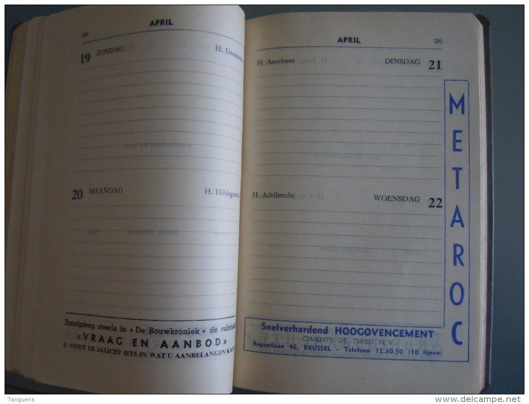 Vlaamse Bouw-en Aanbestedingskalender 1959 Uitgave De Bouwkroniek Brussel Agenda Du Batiment Et Des Adjudications - Prácticos