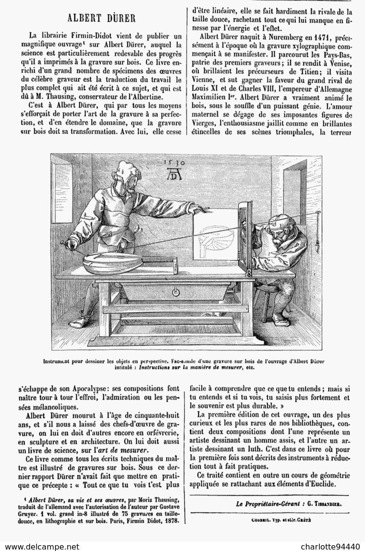 ALBERT DURER  1878 - Technical