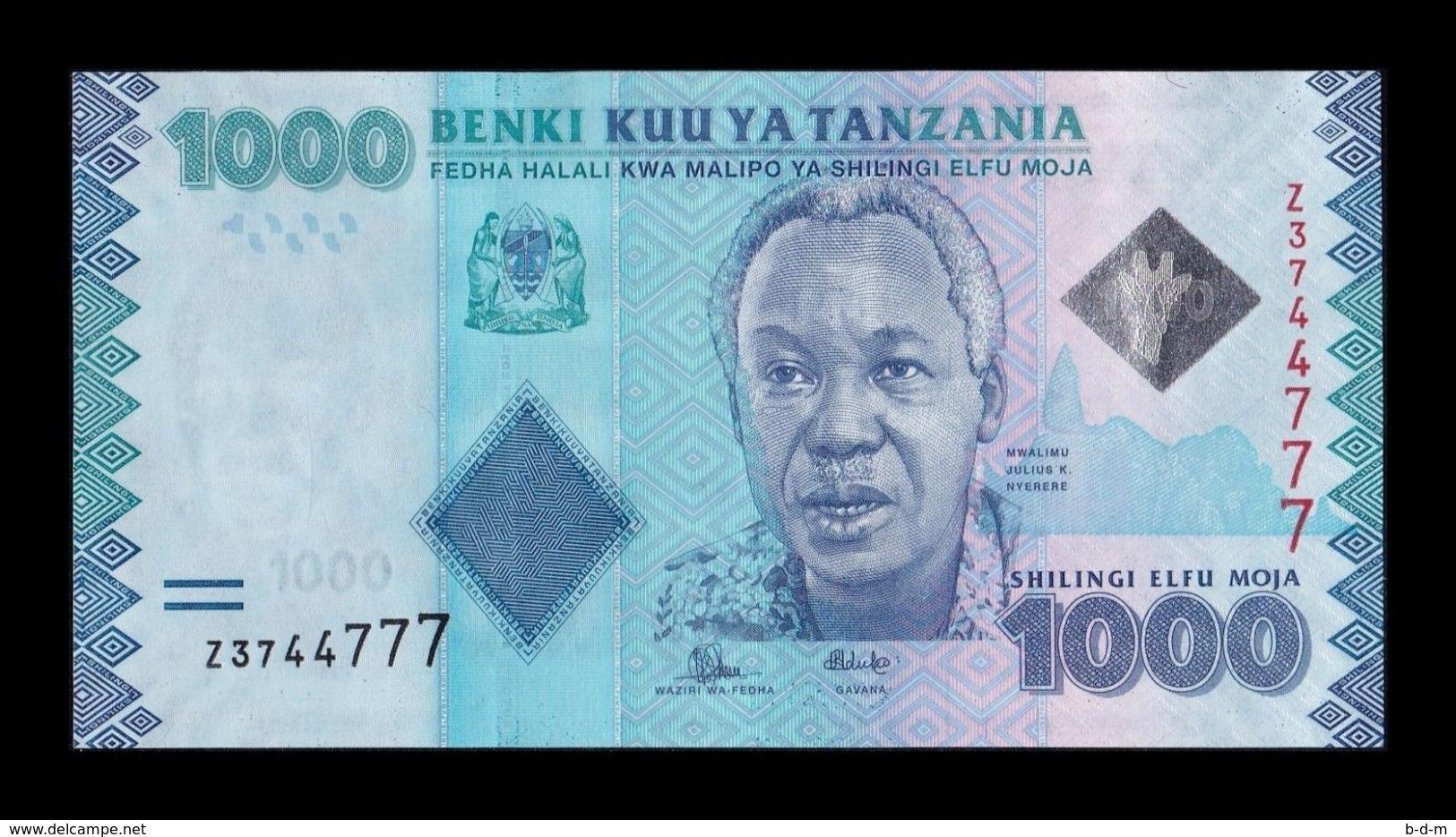 Tanzania 1000 Shillings 2015 Pick 41Br Replacement Serie Z UNC - Tanzania