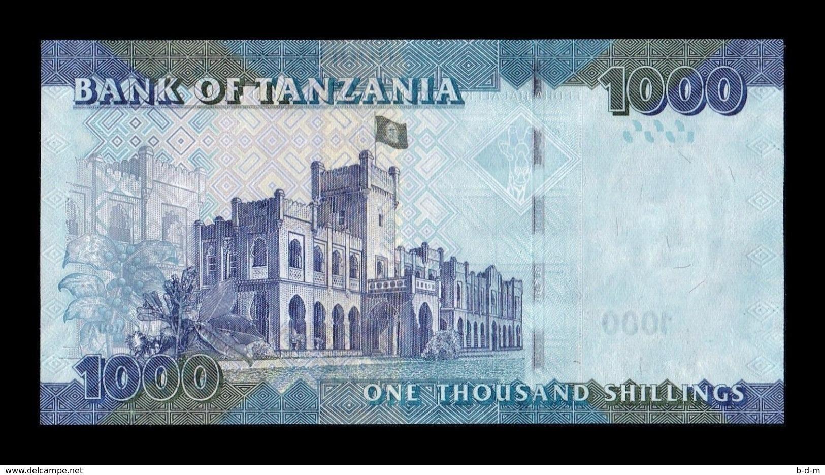 Tanzania 1000 Shillings 2015 Pick 41Br Replacement Serie Z UNC - Tanzanie