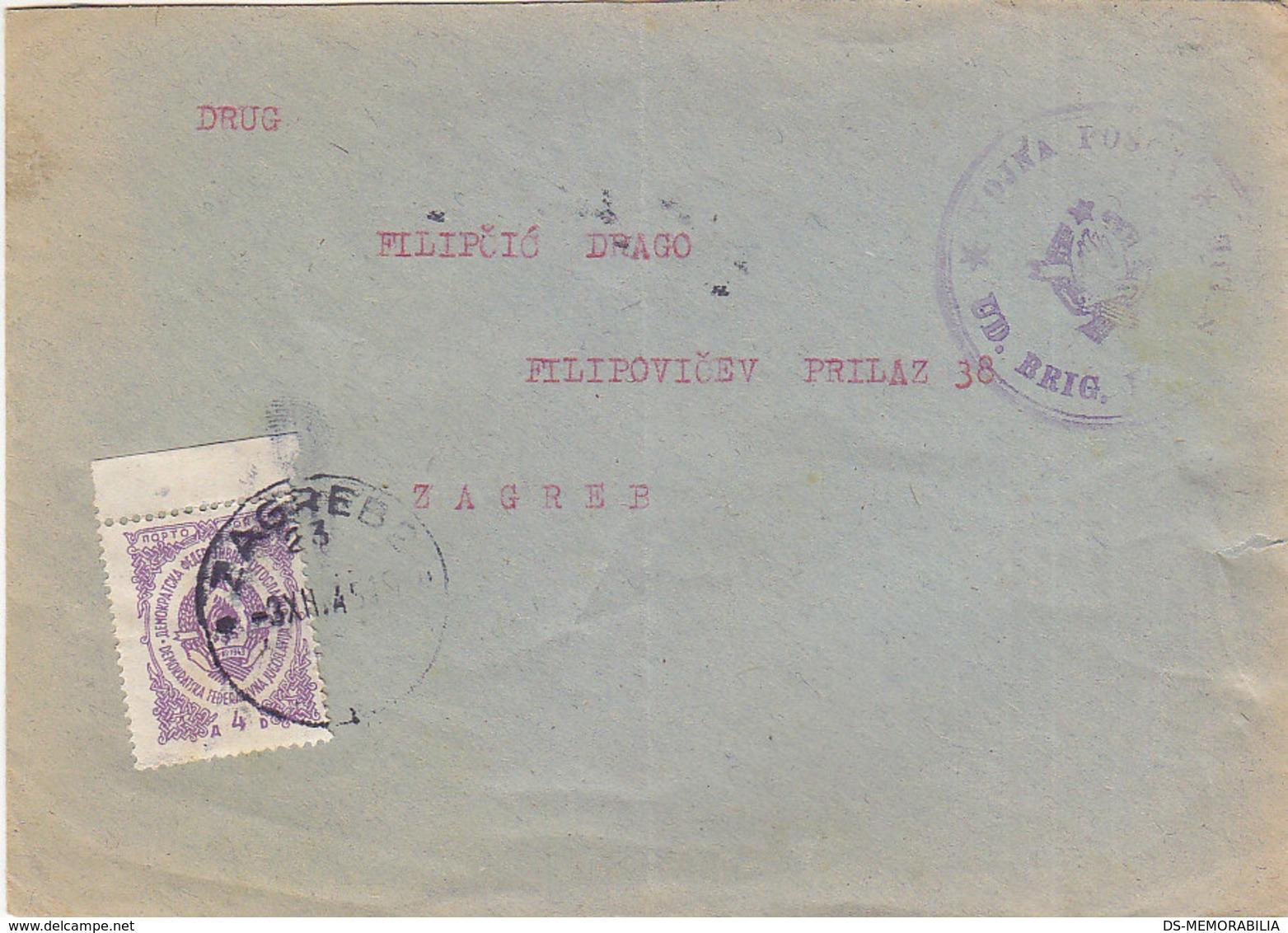 Yugoslavia Yugoslav Army Military Mail VOJNA POSTA , Postage Due Zagreb 1945 - 1945-1992 Sozialistische Föderative Republik Jugoslawien