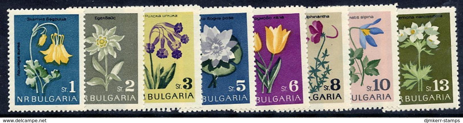 BULGARIA 1963 Flowers MNH / **.  Michel 1407-14 - Unused Stamps