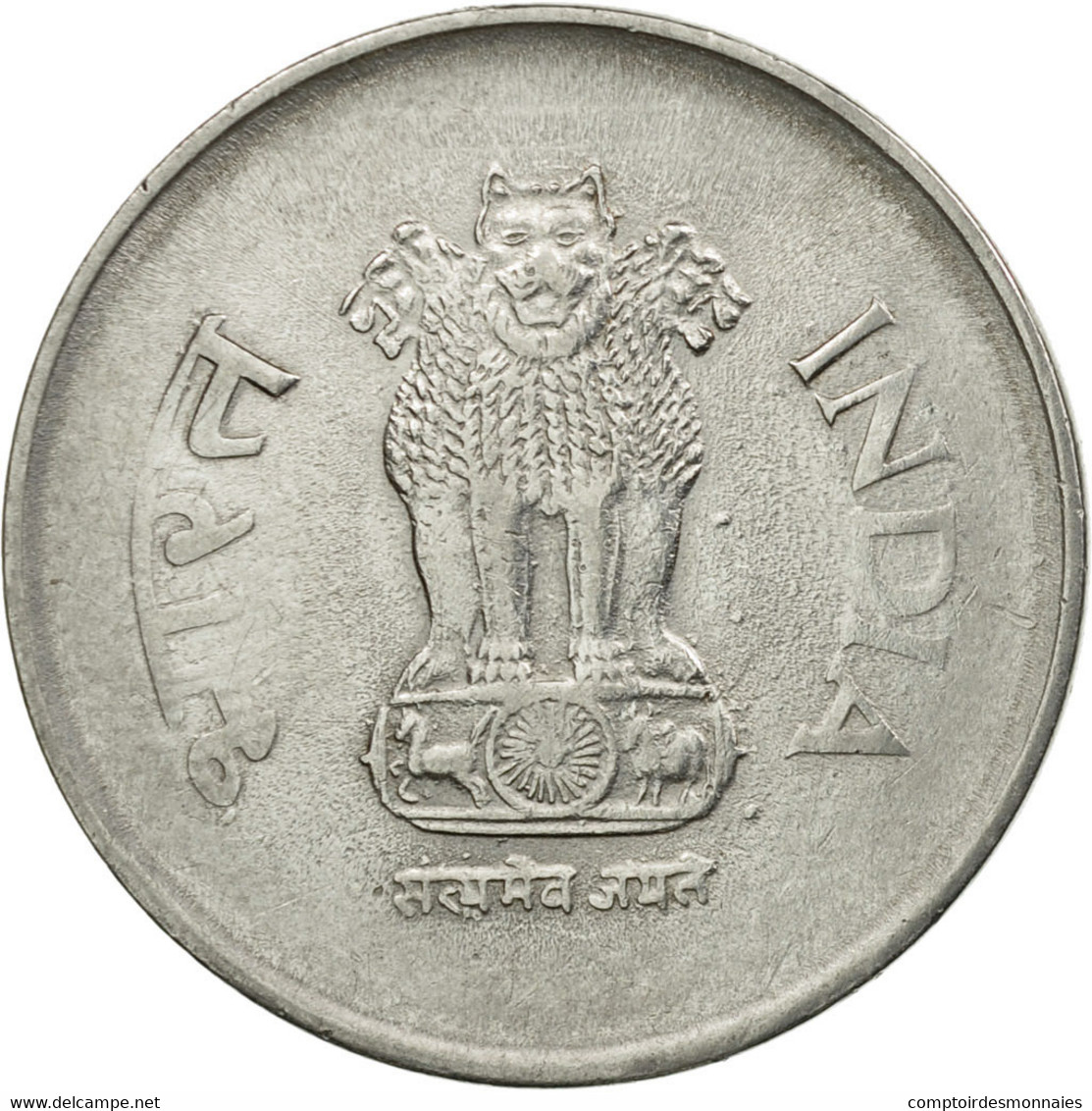 Monnaie, INDIA-REPUBLIC, Rupee, 2001, TTB, Stainless Steel, KM:92.2 - Inde