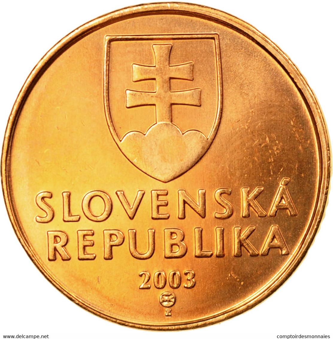 Monnaie, Slovaquie, 50 Halierov, 2003, SPL, Copper Plated Steel, KM:35 - Slovaquie