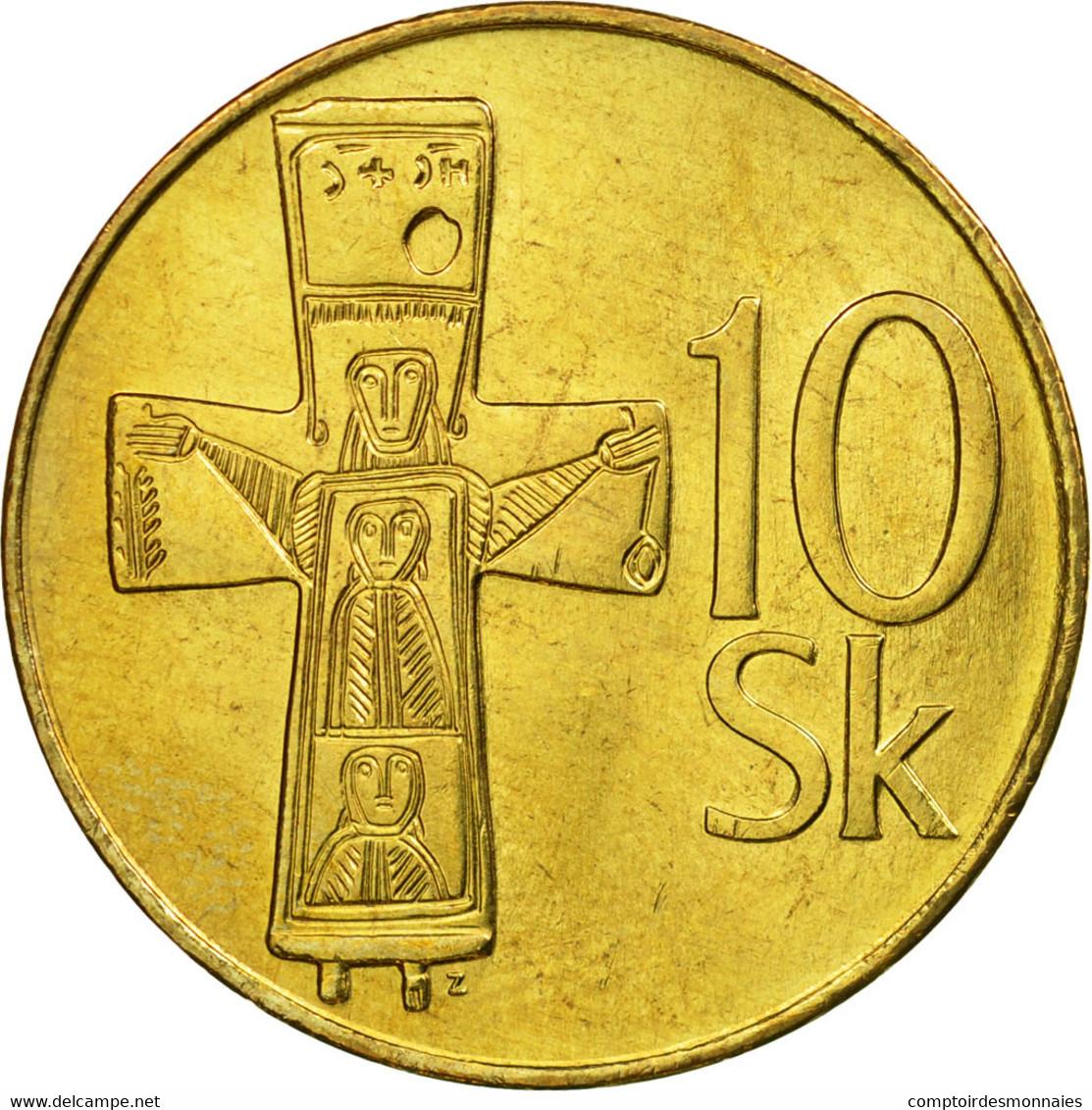 Monnaie, Slovaquie, 10 Koruna, 1994, SUP, Aluminum-Bronze, KM:11 - Slovaquie
