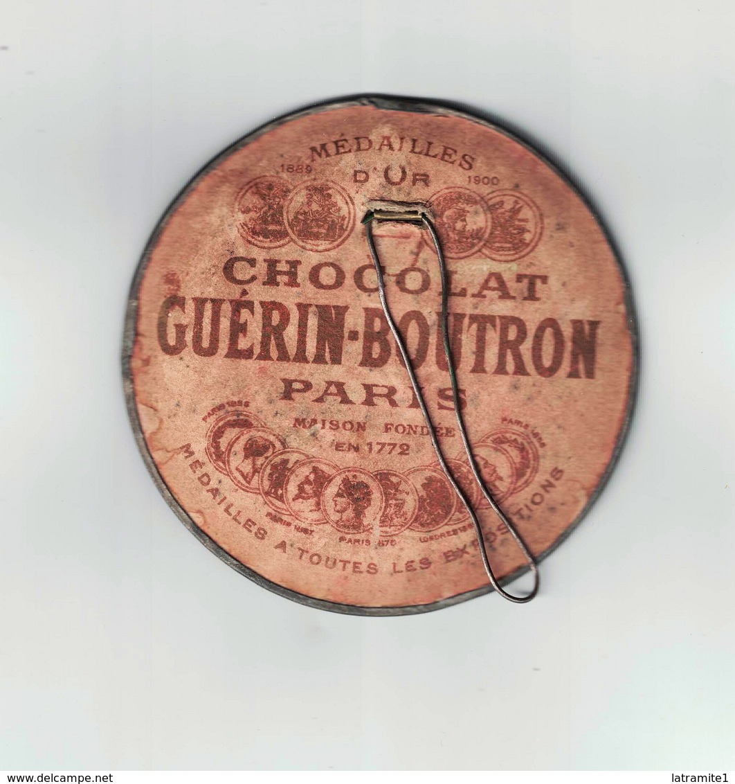 SPECCHIETTO PUBBLICITARIO CHOCOLAT  GUERIN BOUTRON - Cioccolato