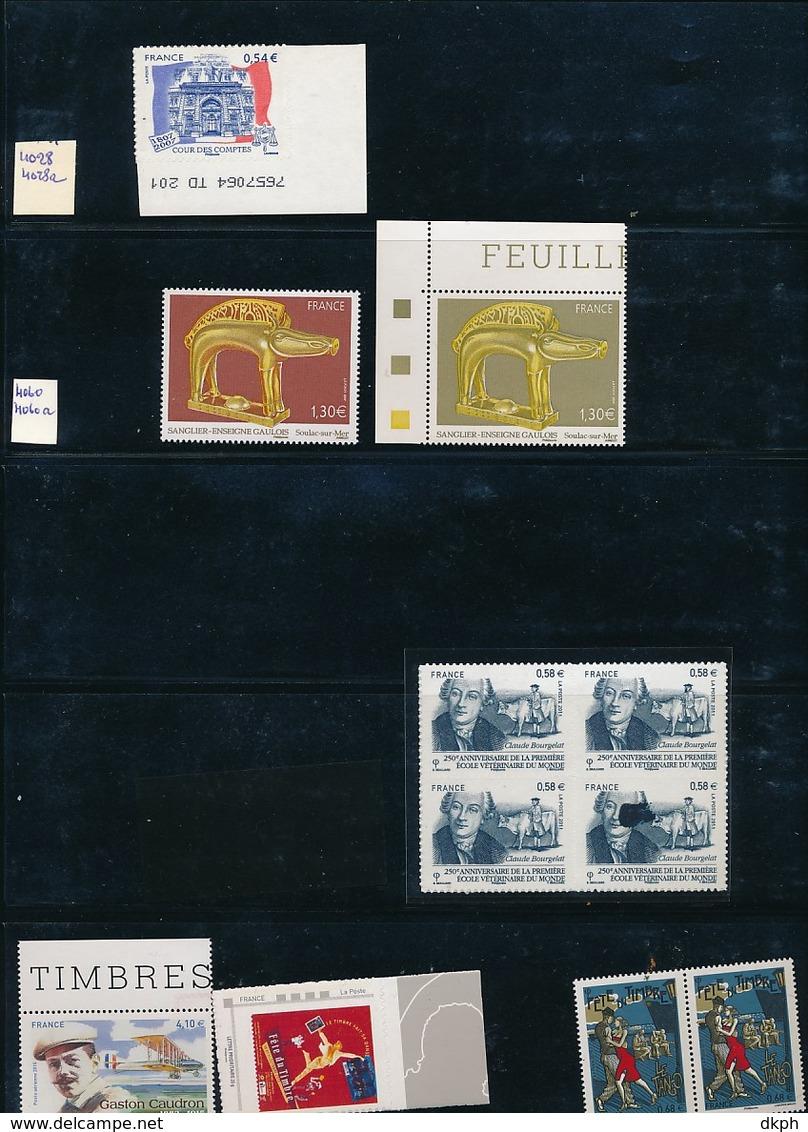 COLLECTION DE VARIETES DE FRANCE - Abarten Und Kuriositäten