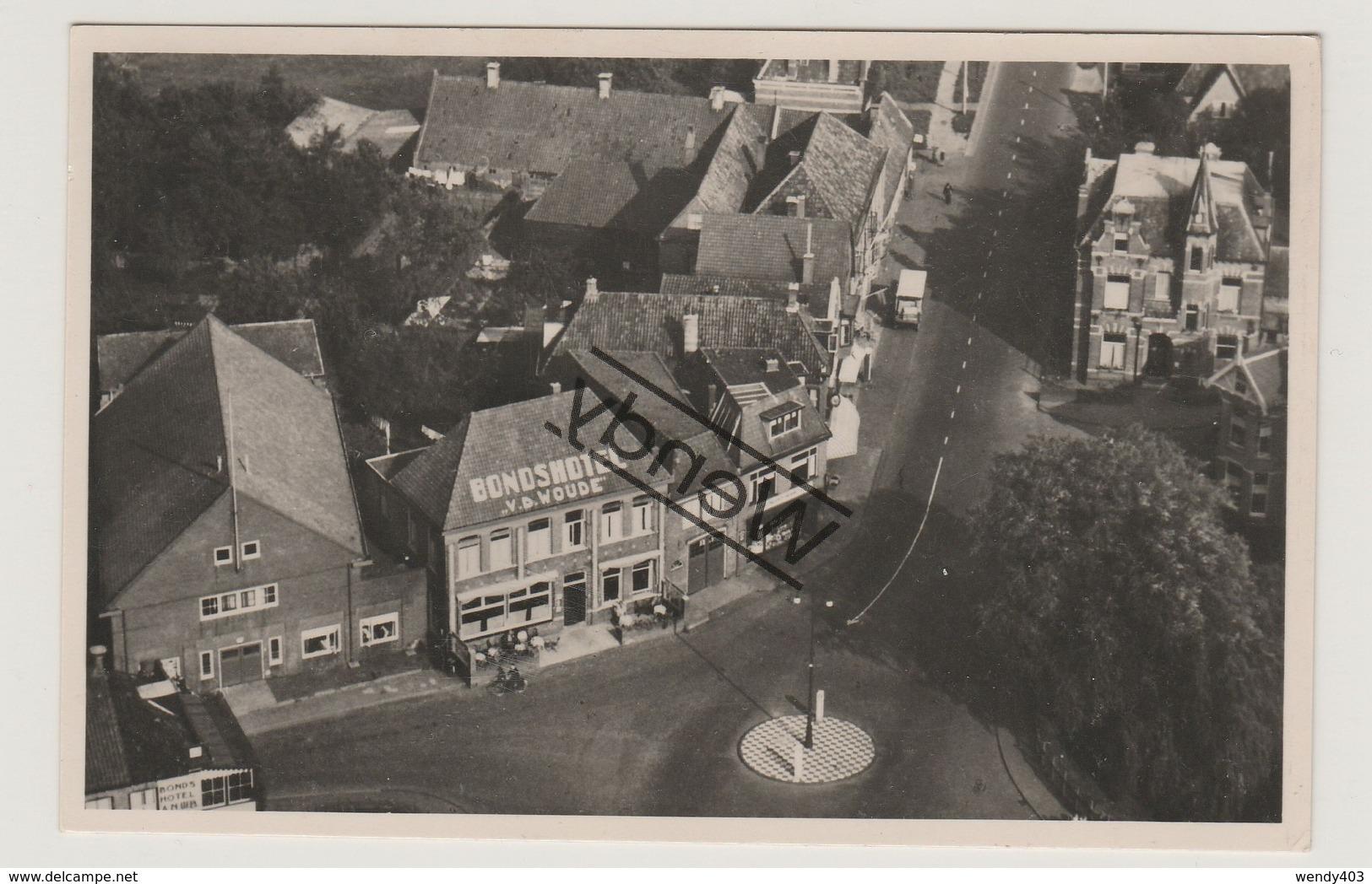 Steenwijk - Hotel V.d. Woude, Stationsstraat 8 - Echte Foto - Steenwijk