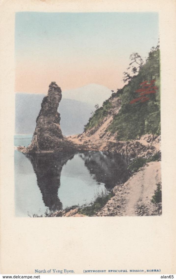 North Of Yeng-Byen Coastline Scene On Methodist Episcopal Mission Korea, Missionary Religion C1900s Vintage Postcard - Korea, North