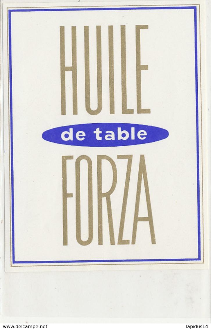 H 37 - ETIQUETTE  HUILE  ARACHIDE   DE TABLE  FORZA - Labels