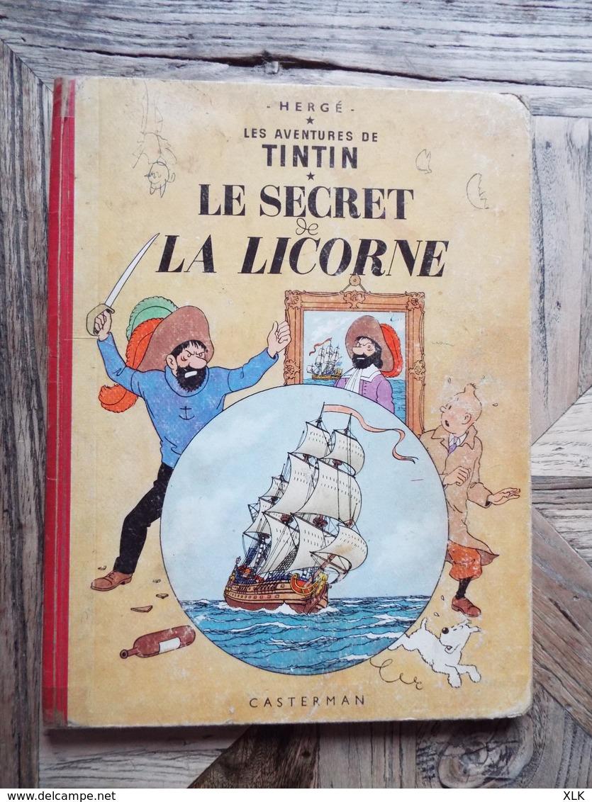 """Tintin - Lot De 20 Tintin Dont Original """"On A Marché Sur La Lune"""" - Hergé"""