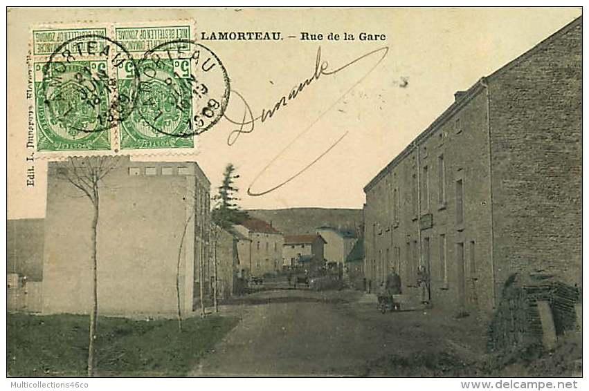 261018 - BELGIQUE Région Wallonne LAMORTEAU Rue De La Gare - Autres