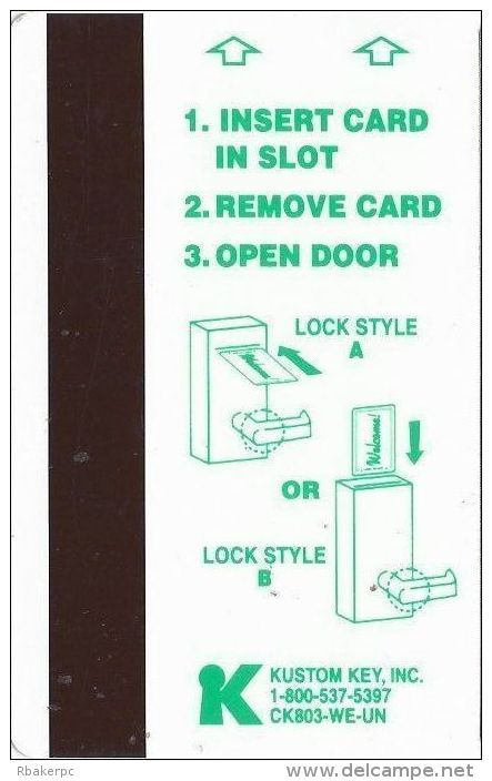 Oasis Casino Mesquite NV Hotel Room Key Card - Hotel Keycards