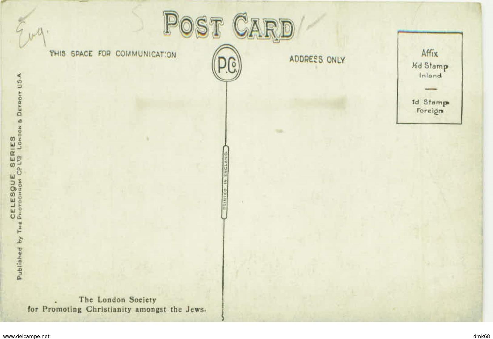 ISRAEL / LEBANON / SYRIA - MOUNT HERMON -  CELESQUE SERIE - 1920s (BG808) - Cartes Postales