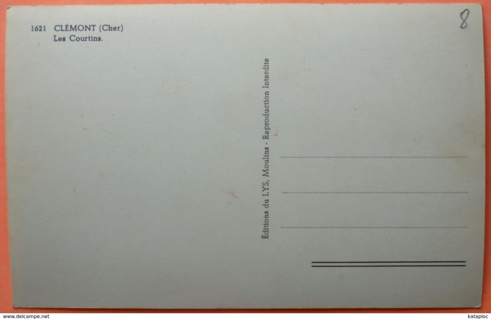 CARTE CLEMONT - 18 - LES COURTINS -SCAN RECTO/VERSO -10 - Clémont