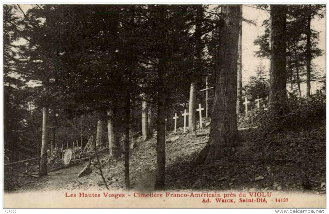 Cimentiere Franco Americain Pres Du Violu - Sainte-Marie-aux-Mines