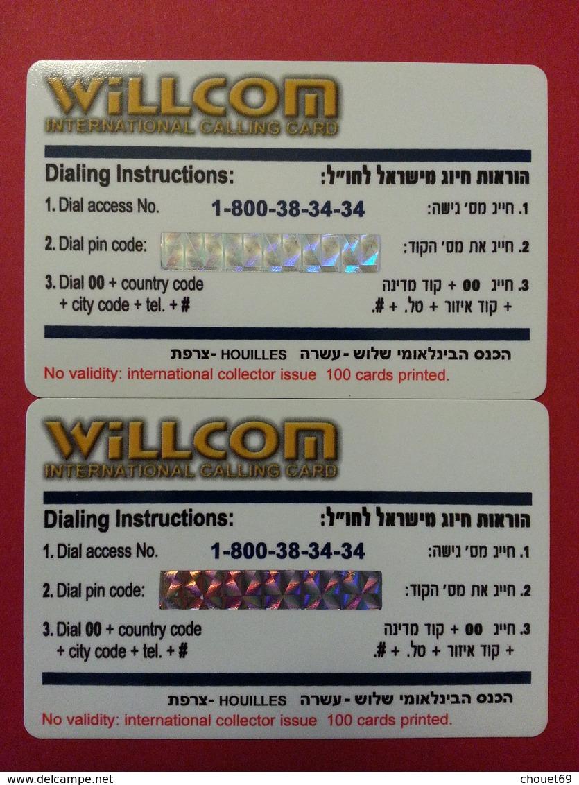 SIT 2008 Houilles 2 Cards Puzzle JO Coca Cola Mc Donalds Natation 100 Exemplaires Willcom - Israel