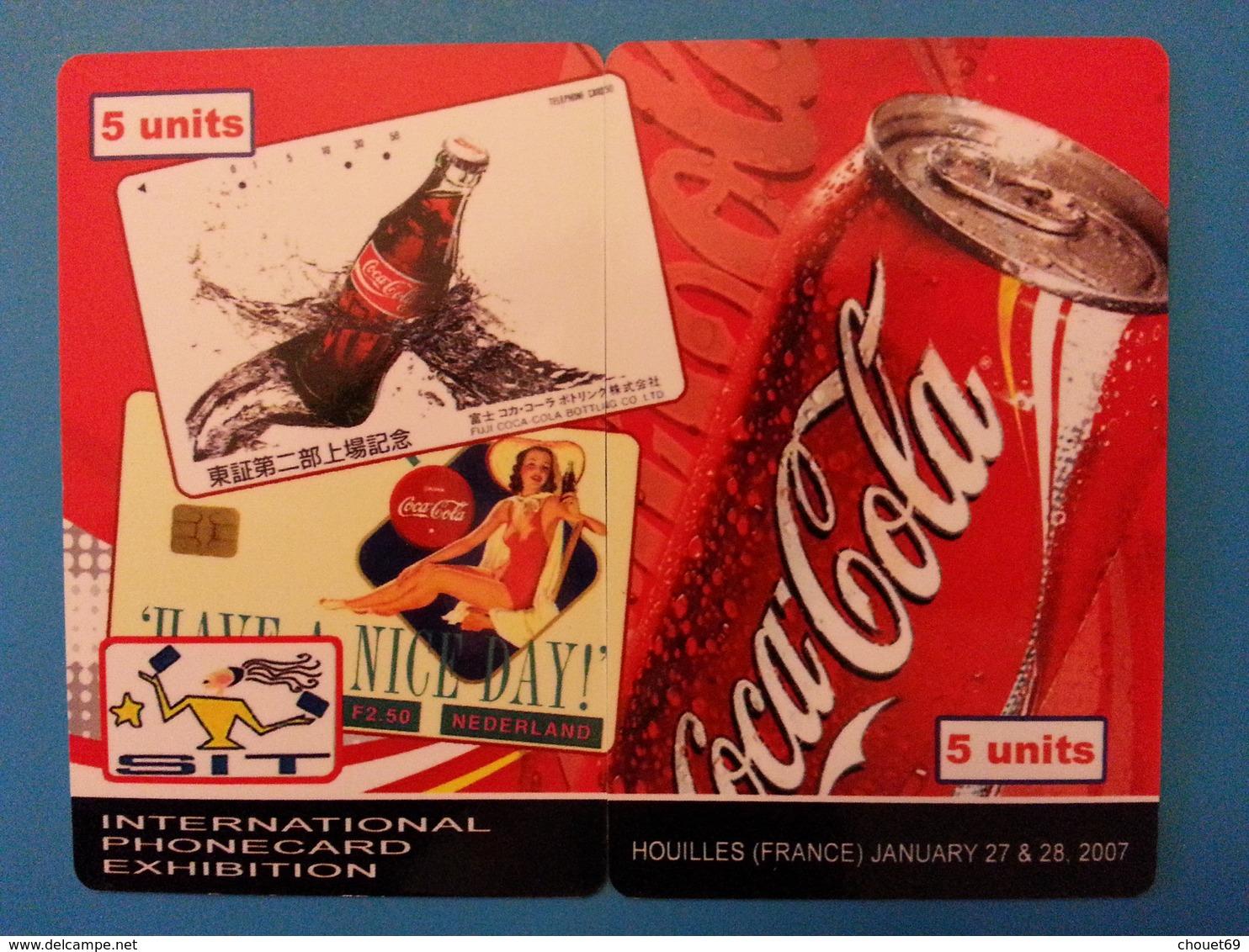 SIT 2007 Houilles 2 Cards Puzzle Coca Cola Canette 100 Exemplaires Willcom - Israel