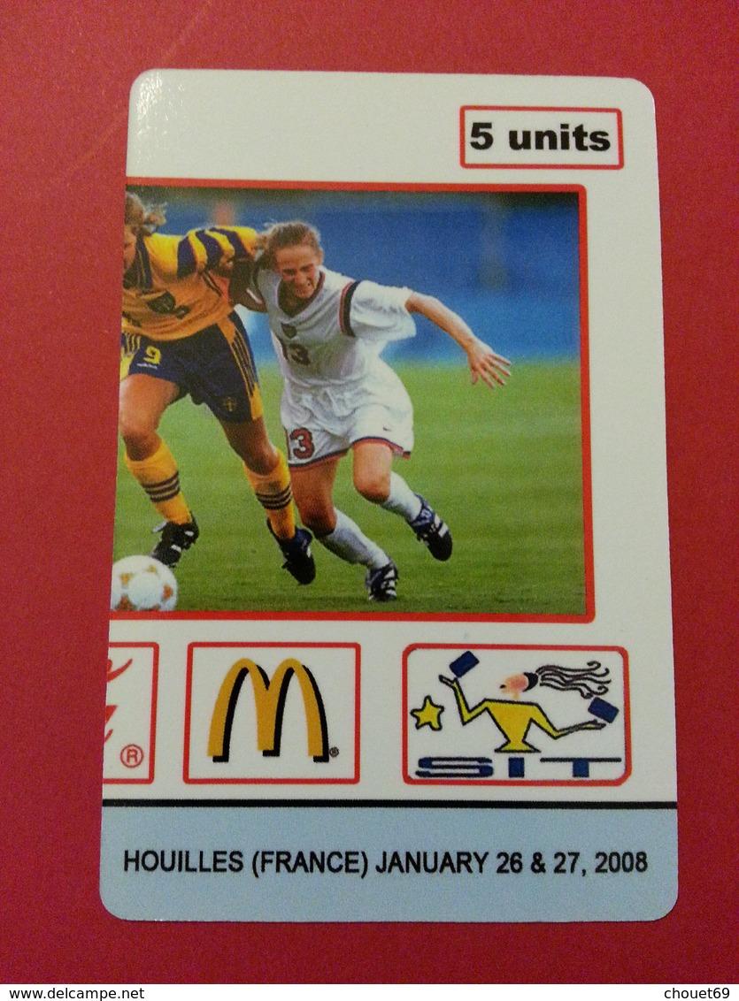 SIT 2008 Houilles JO Coca Cola Mc Donalds 1 Carte Foot 100 Exemplaires Willcom Football - Israel