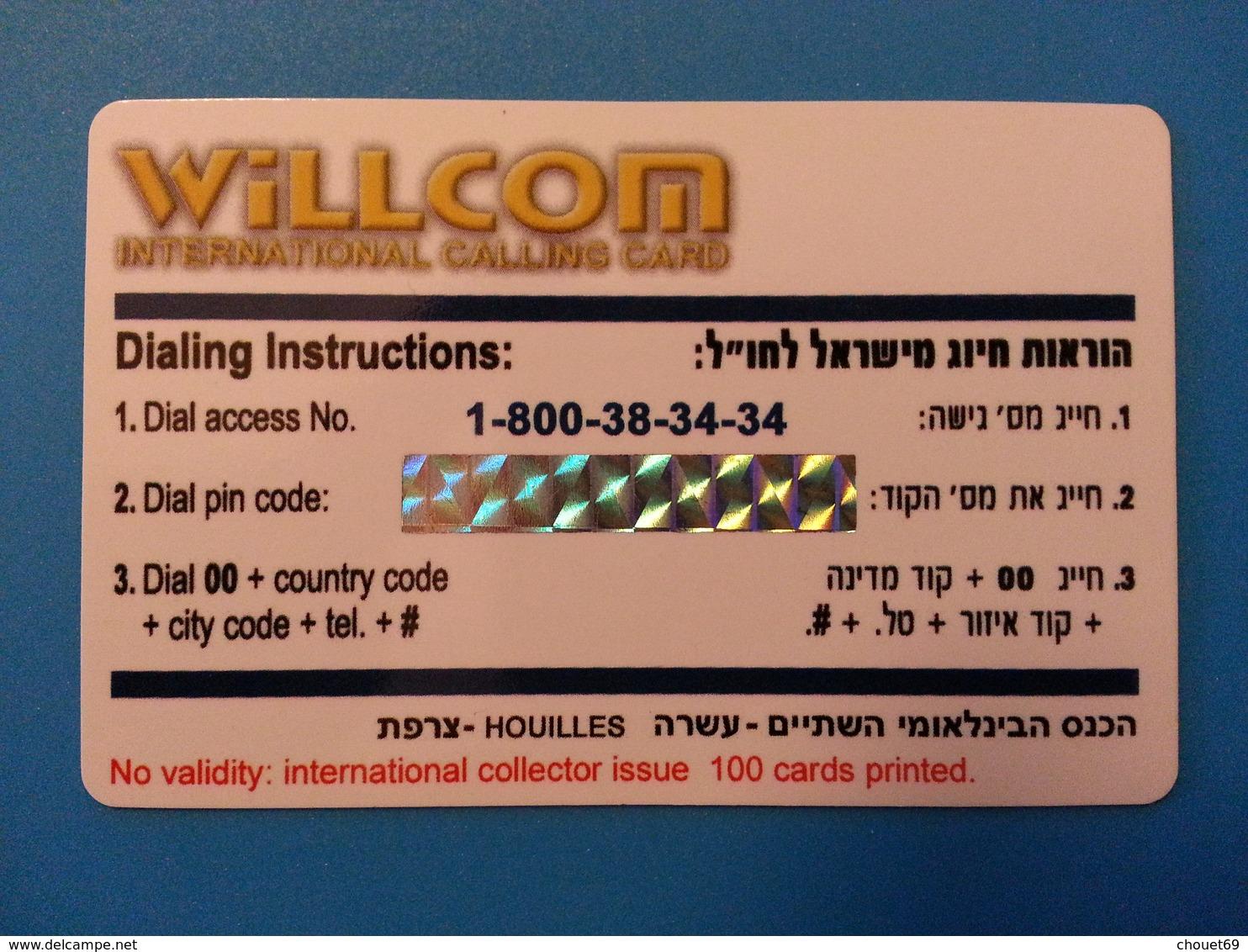 SIT 2007 Houilles Coca Cola Bouteille 1 Carte 100 Exemplaires Willcom - Israel