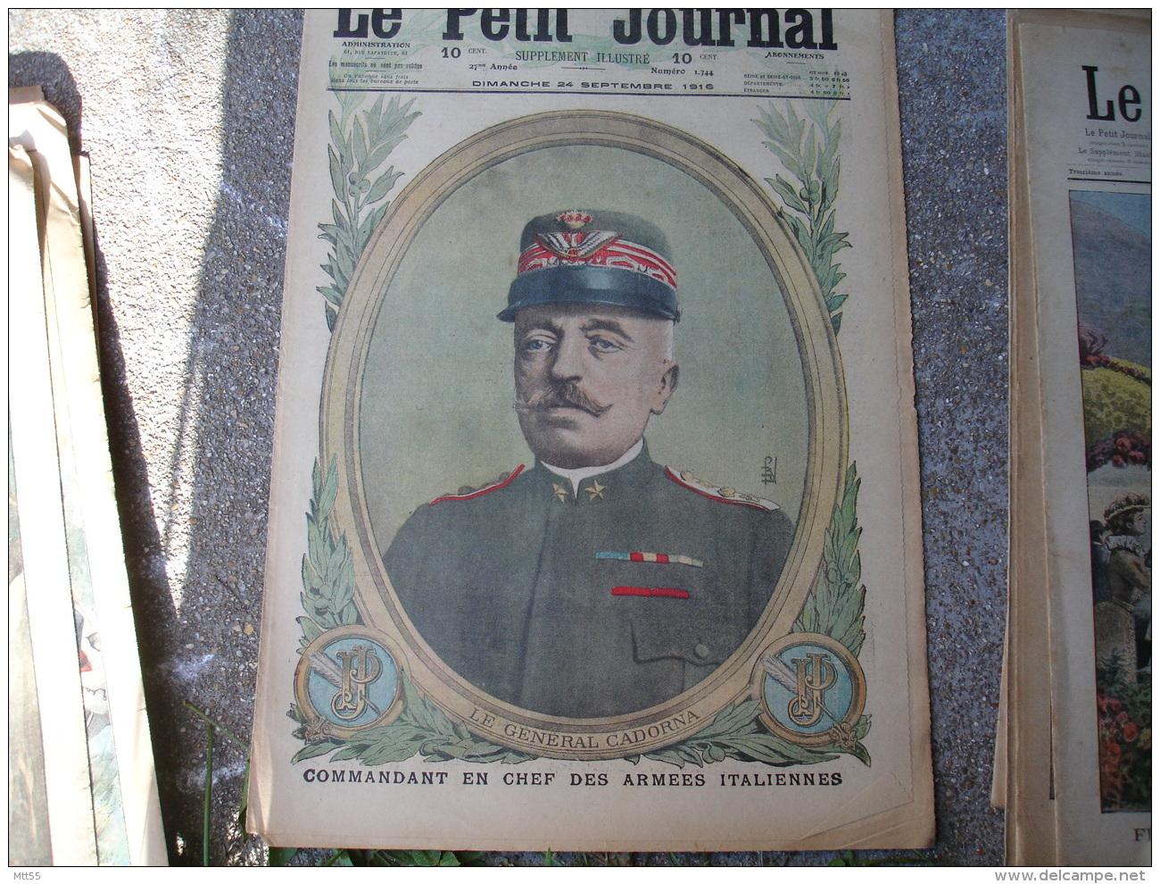 1916 General Cardona Italie  Salonique Grece Manifestation En Faveur Allies Le Petit Journal Illustre - Newspapers