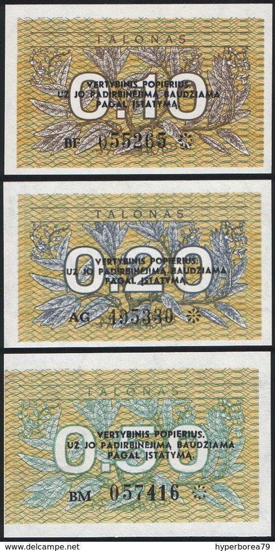 Lithuania SET - 0.10 0.20 0.50 Talonas 1991 - UNC - Lituanie
