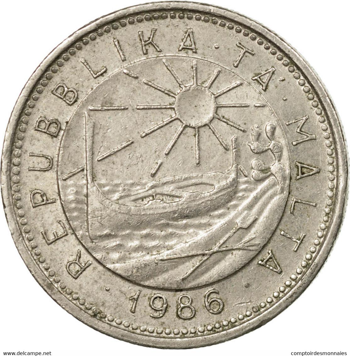 Monnaie, Malte, 10 Cents, 1986, British Royal Mint, TB+, Copper-nickel, KM:76 - Malte
