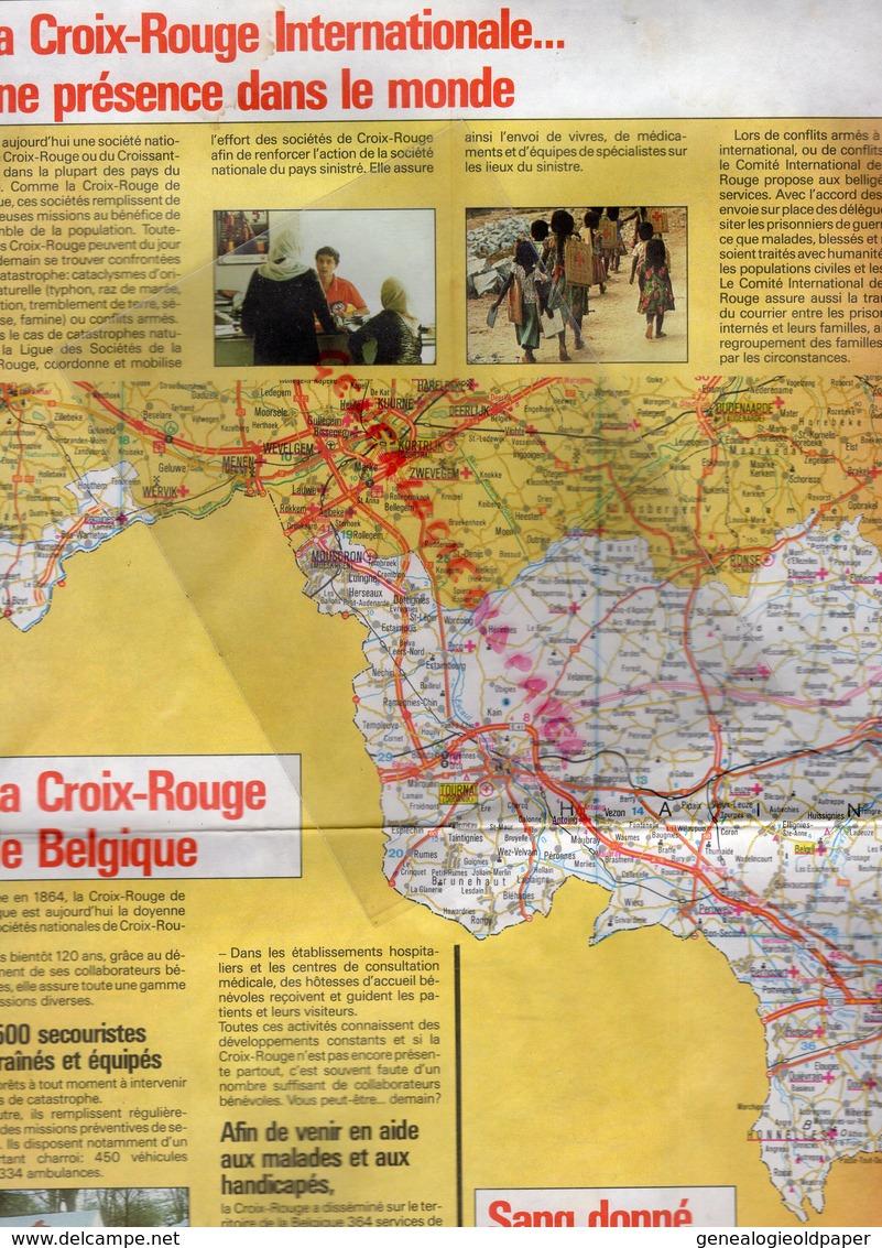 BELGIQUE-CARTE ROUTIERE DE SECURITE 1983- CROIX ROUGE- BELGISCHES ROTES KREUZ-SECOURISME SECOURISTE - Cartes Routières