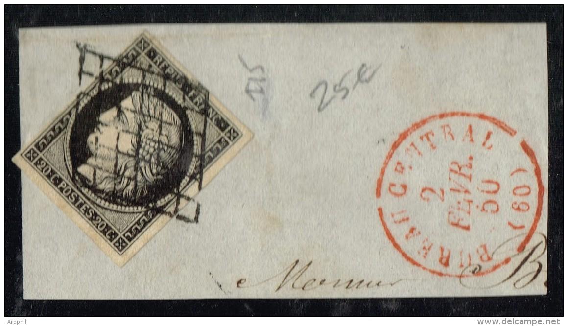 E1bis-N°3  Paris CàD Rouge Indice 15 - 1849-1876: Periodo Classico