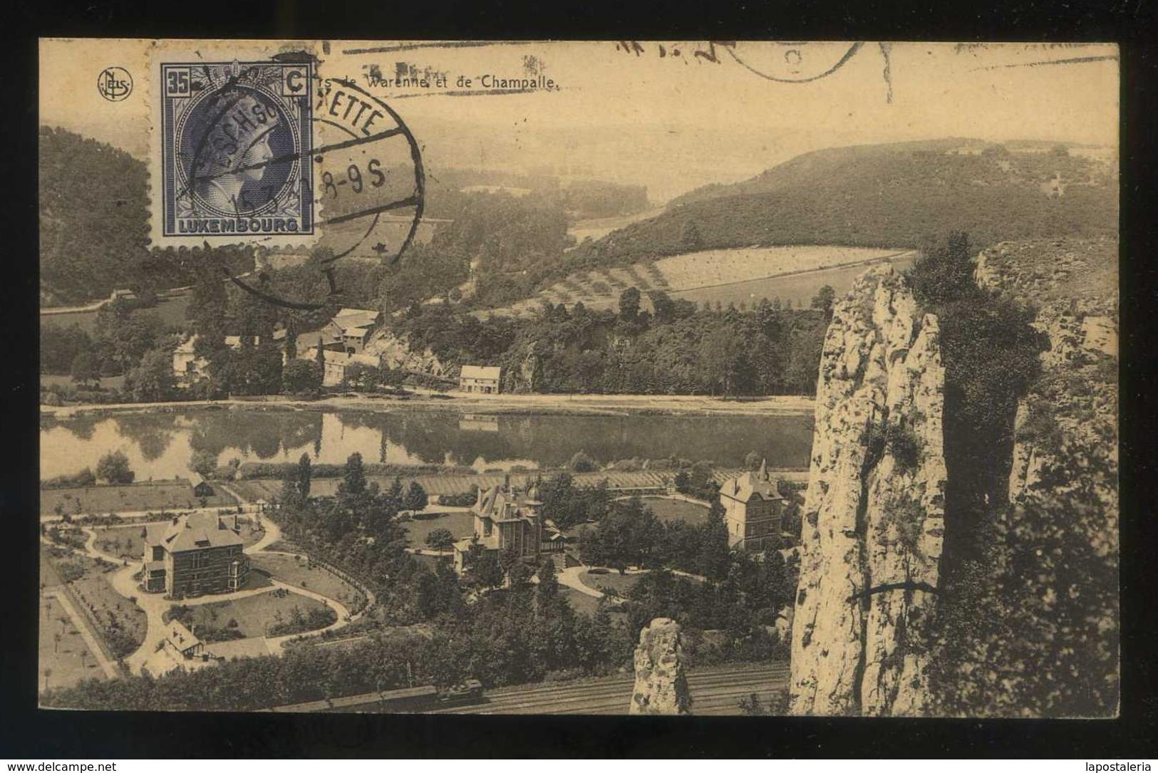 Luxemburgo. *Rochers De Warenne Et De Champalle* Circulada 1930. - Luxemburgo - Ciudad