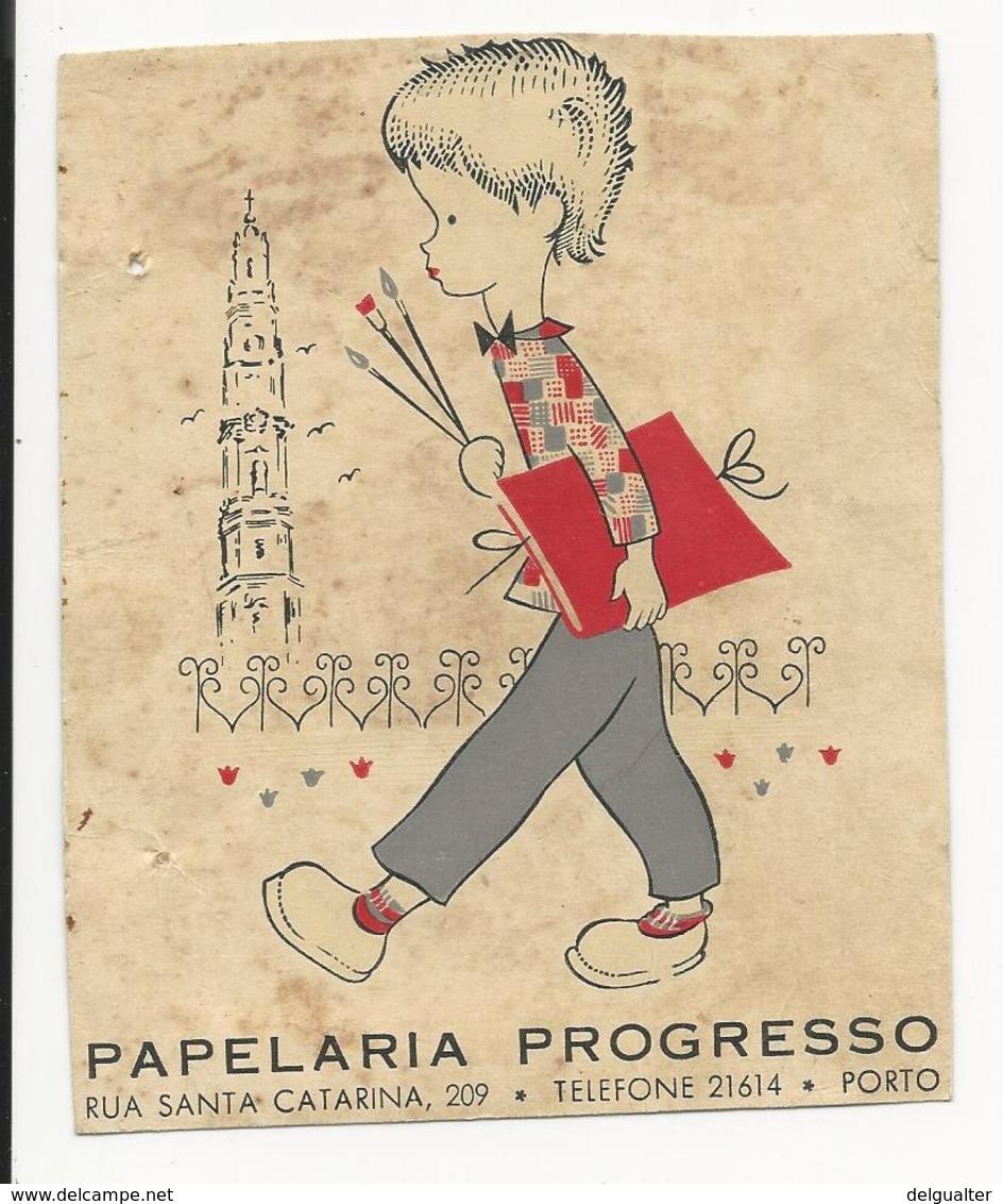 Calendar * Portugal * 1957 * Papelaria Progresso * Porto * Holed - Calendriers