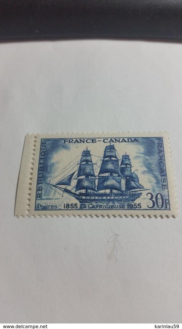 Timbre France  1955 NEUF Centenaire De L'Amitié Franco-Canadienne N°1035 - France