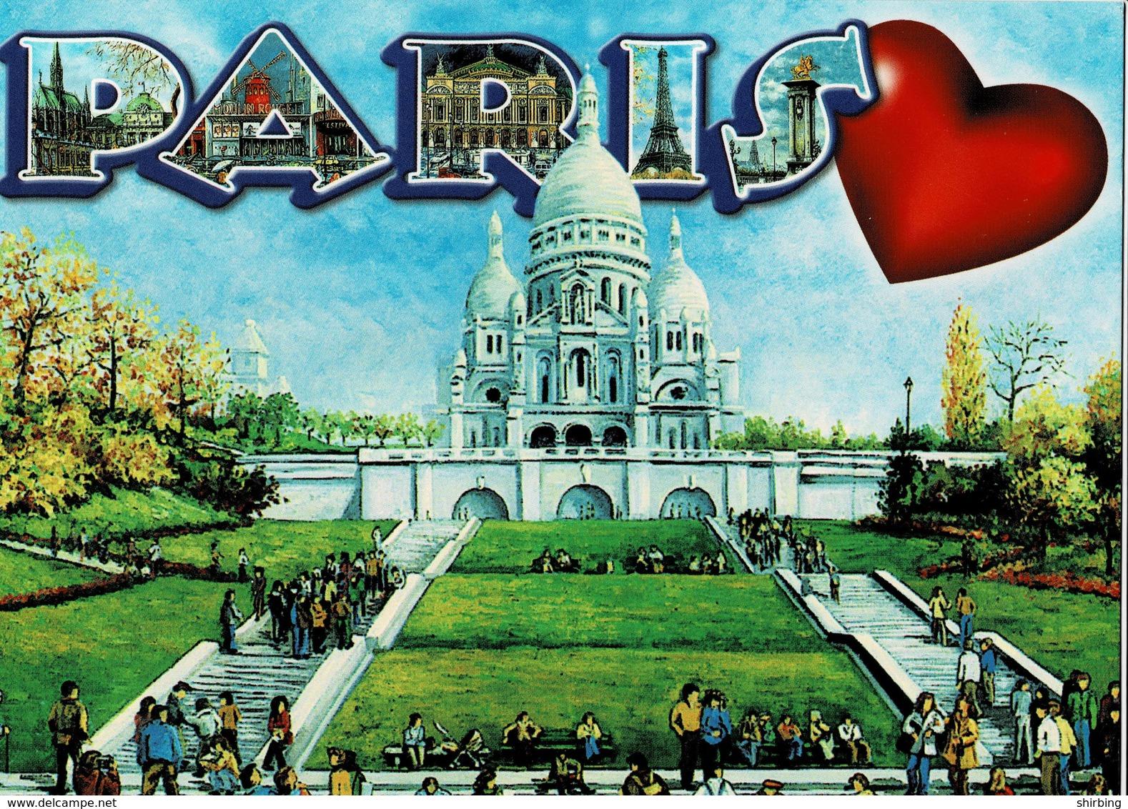 23A : France Jouffroy D'abrans Stone Bridge Stamp Used On Paris Postcard - France