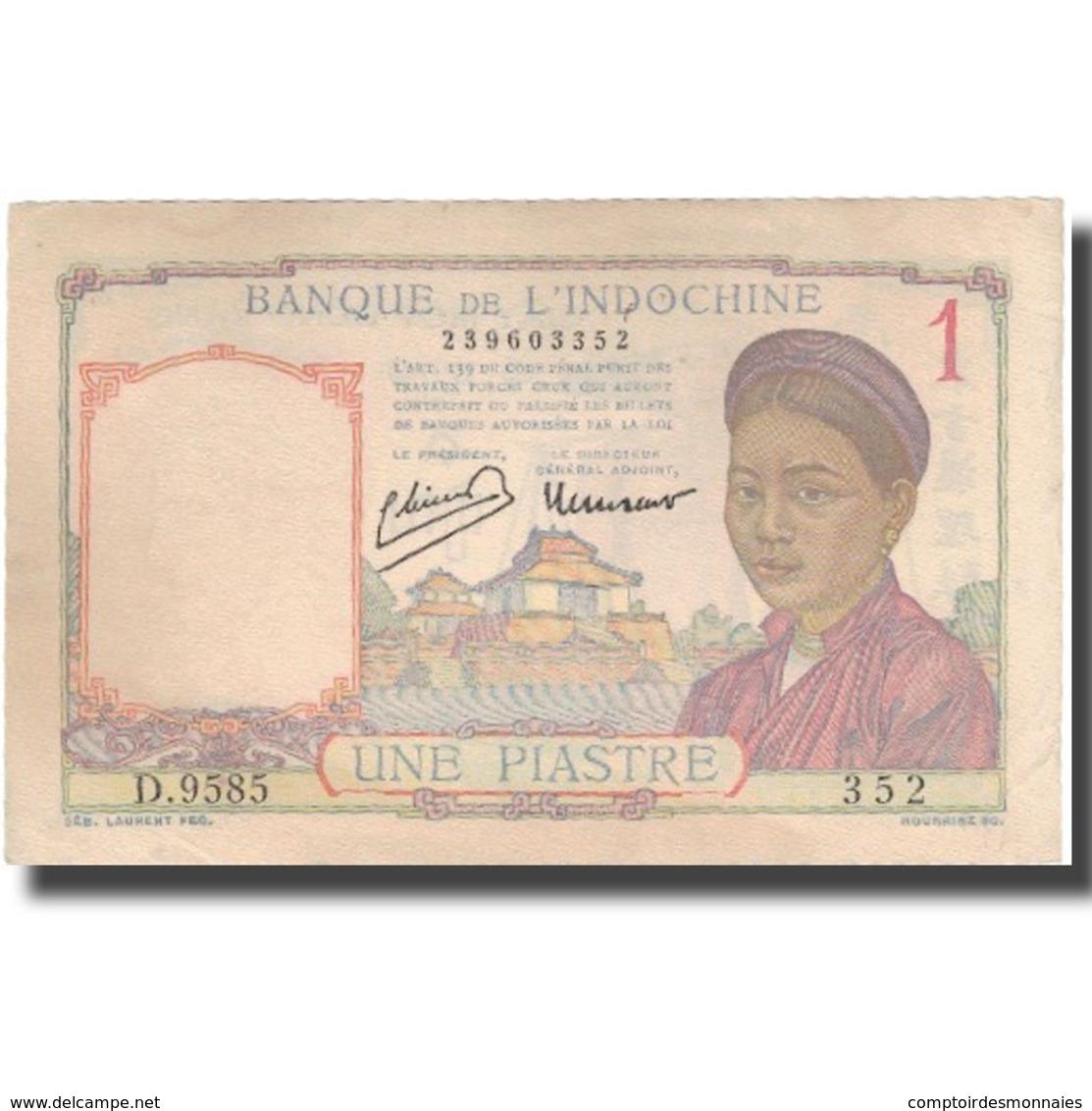 Billet, FRENCH INDO-CHINA, 1 Piastre, Undated (1949), KM:54c, SUP - Indochine