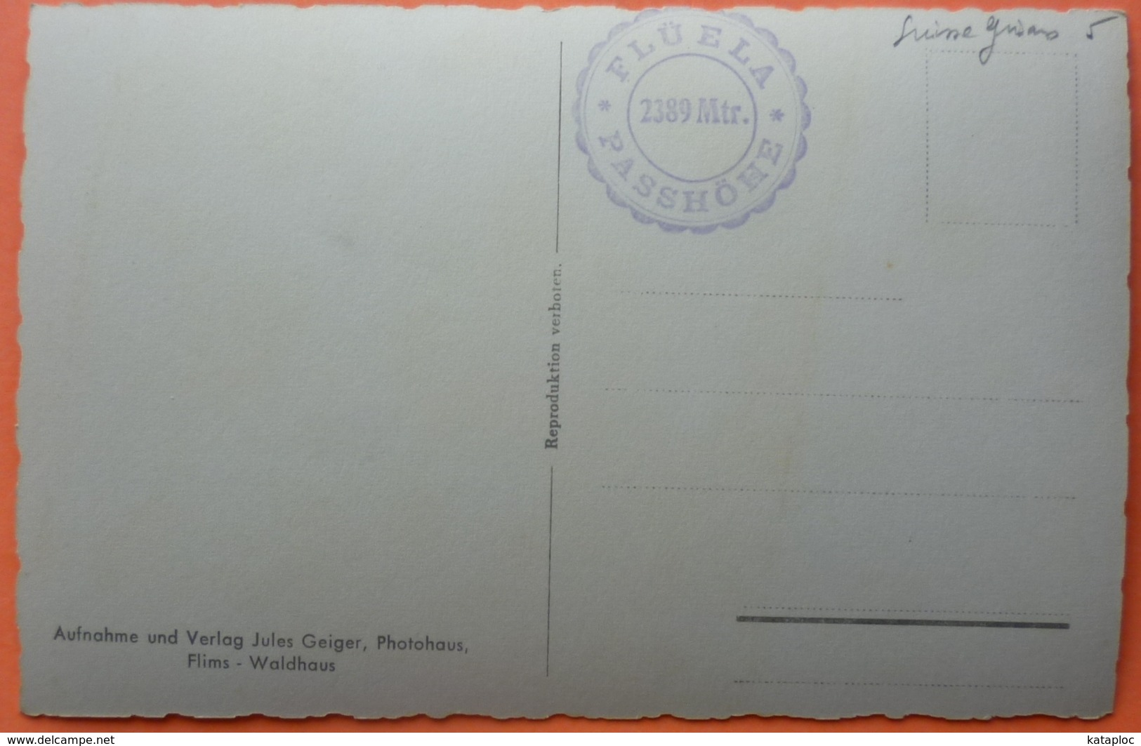 CARTE SUISSE - AM FLUELAPASS MIT VAL GRIALETSCH - BUS - SCAN RECTO/VERSO-10 - GR Grisons