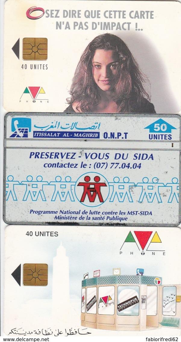 LOTTO 3 SCHEDE TELEFONICHE MAROCCO  (CE0342 - Morocco