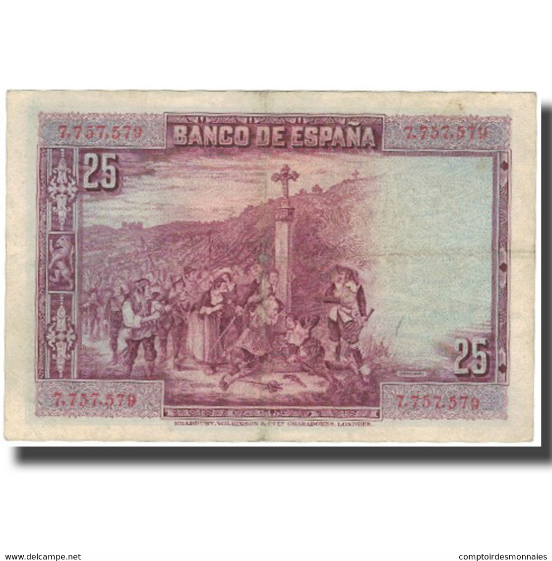 Billet, Espagne, 25 Pesetas, 1928, 1928-08-15, KM:74a, TTB - 1-2-5-25 Pesetas