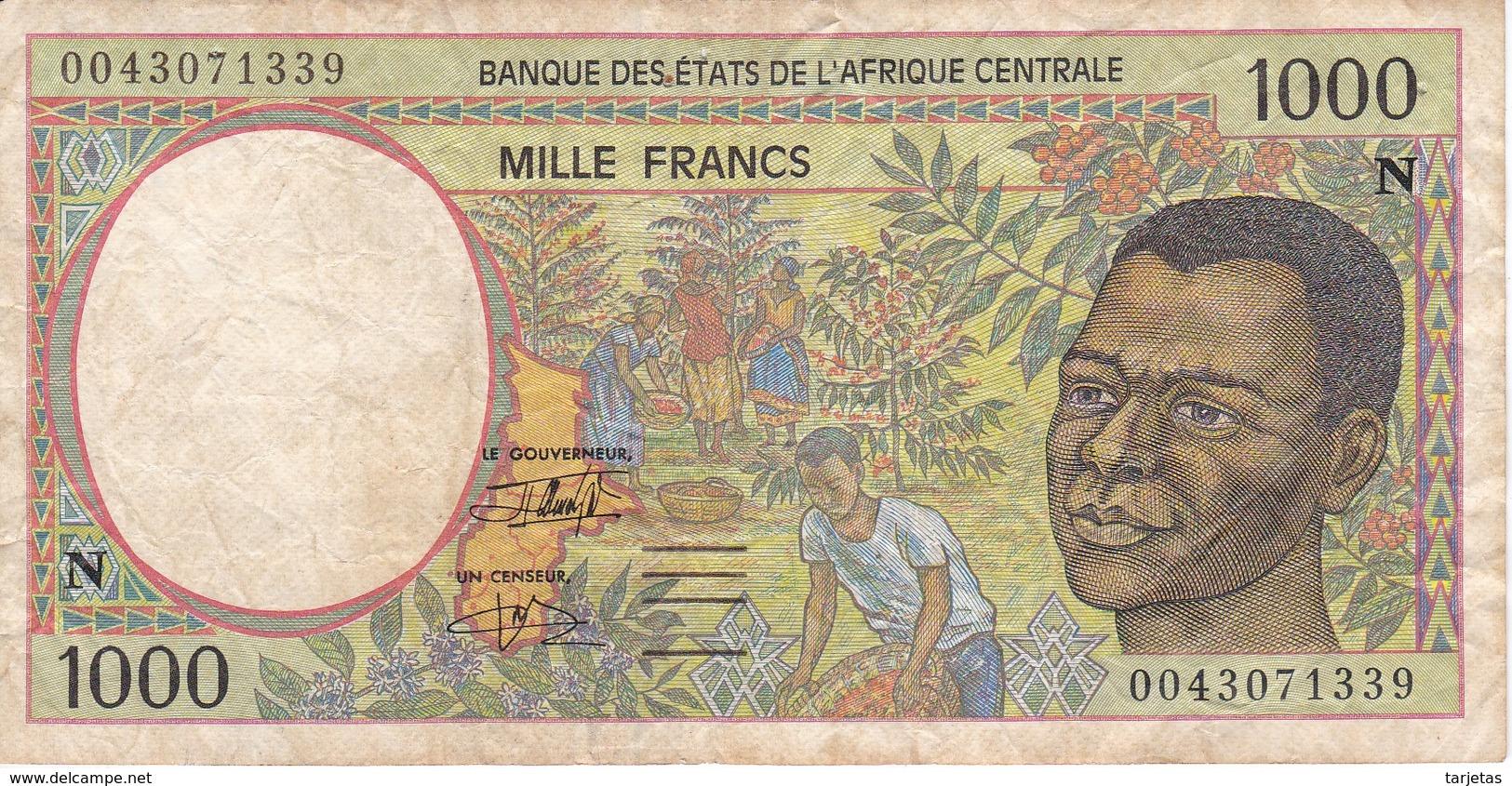 BILLETE DE GUINEA ECUATORIAL DE 1000 FRANCS DEL AÑO 1994 (BANKNOTE) - Guinée Equatoriale