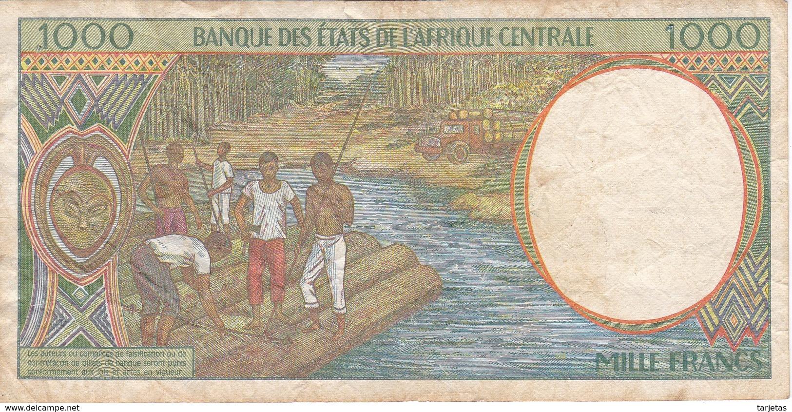 BILLETE DE GUINEA ECUATORIAL DE 1000 FRANCS DEL AÑO 1994 (BANKNOTE) - Guinea Ecuatorial