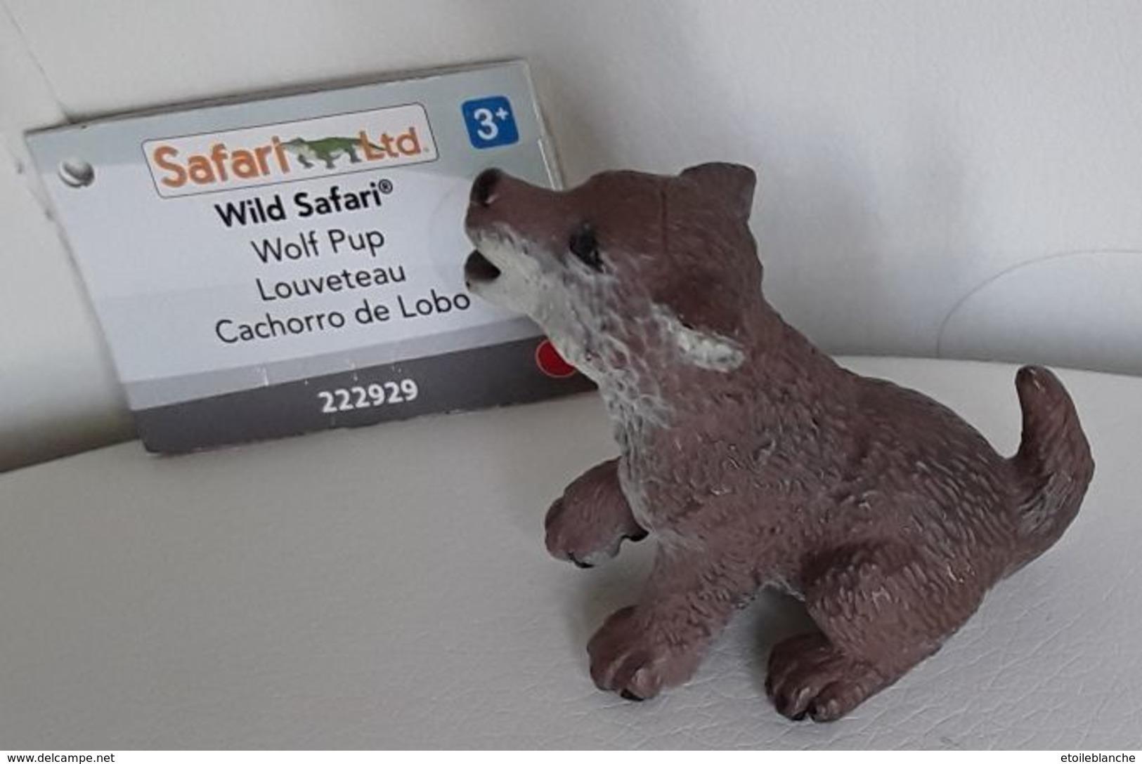 Figurine, Animal Sauvage, Louveteau - Bébé Loup - Wolf Pup - Wild Safari - Cachorro De Lobo - Long 5 Cm - Action- Und Spielfiguren