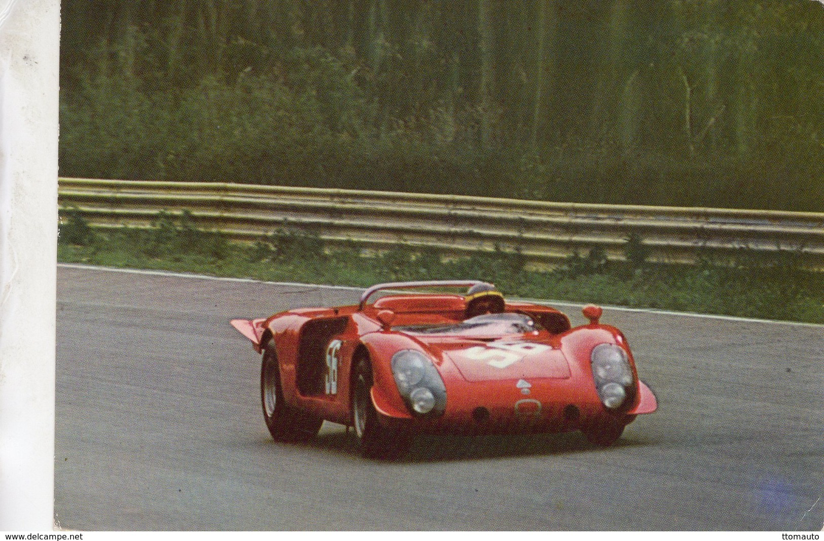 1000kms Monza 1970  -  Alfa Romeo T33/2 Spider  -  Pilotes: Giovanni Alberti/Teodoro Zeccoli  -  CPSM - Le Mans