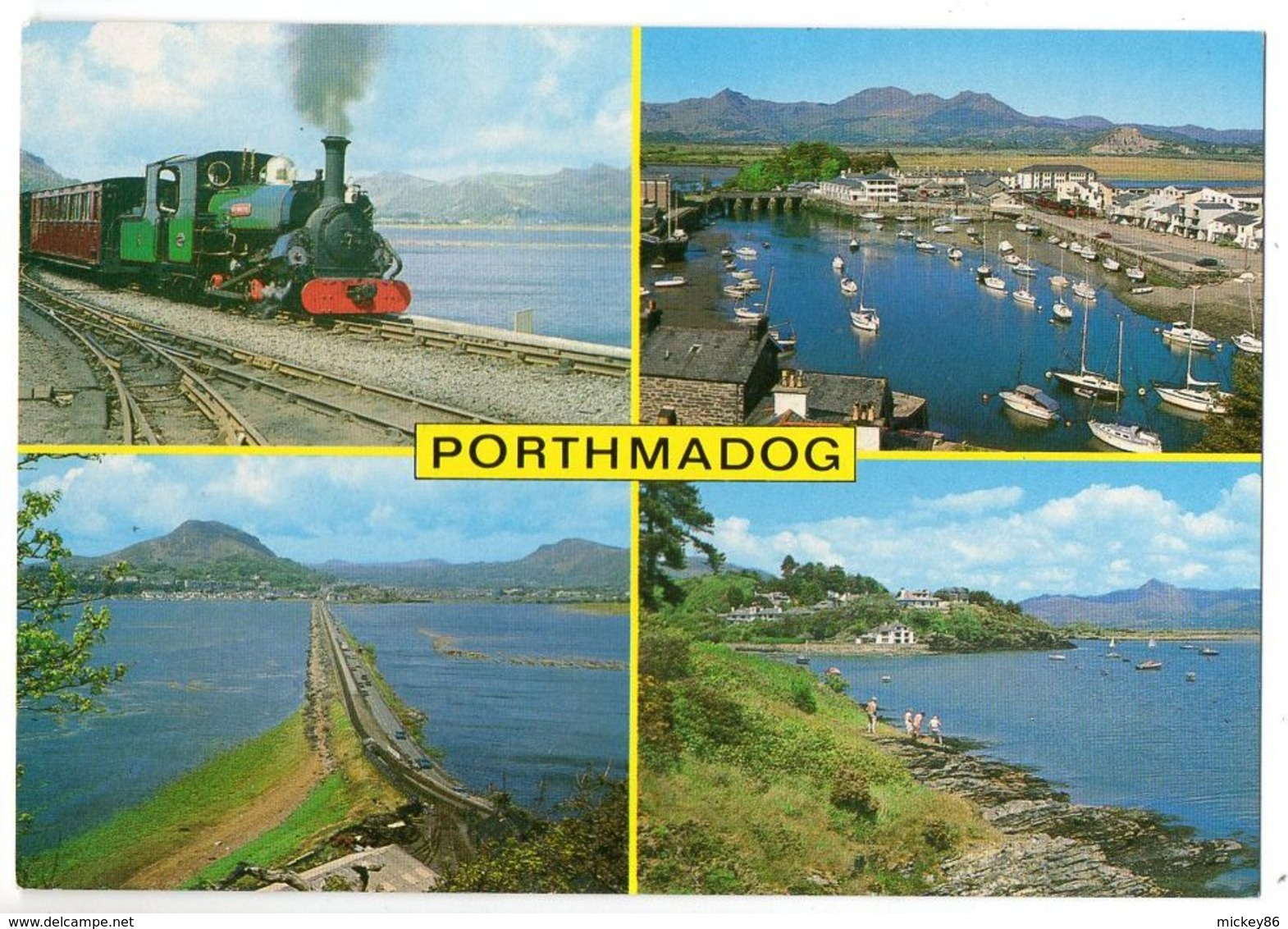 U-K -- WALES --- PORTHMADOG --Multivues  (festinlog Railway, The Cob,the Harbour,Borth-Gest ) - Autres