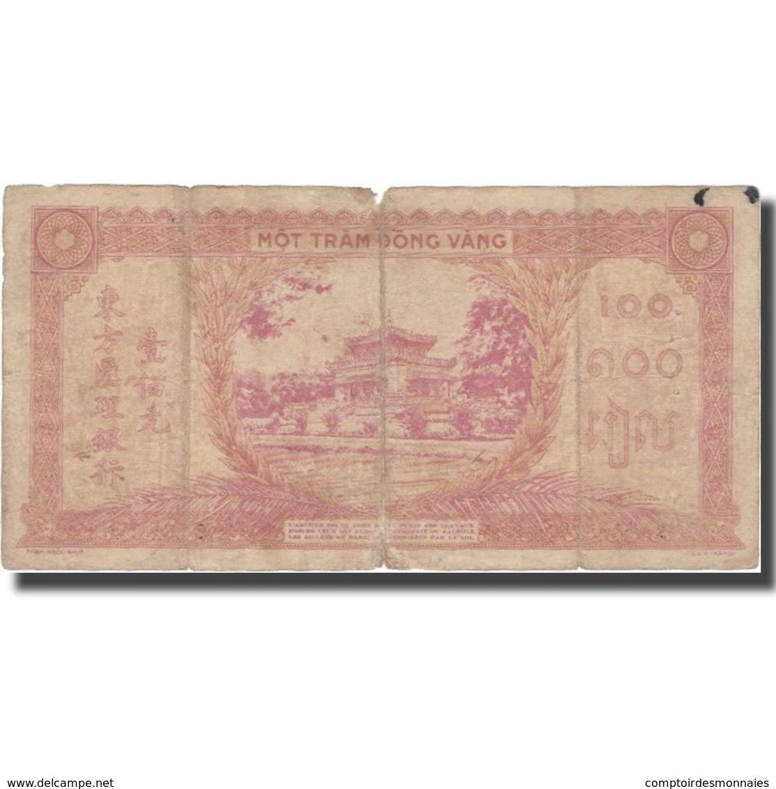 Billet, FRENCH INDO-CHINA, 100 Piastres, Undated (1942-45), KM:66, B+ - Indochine
