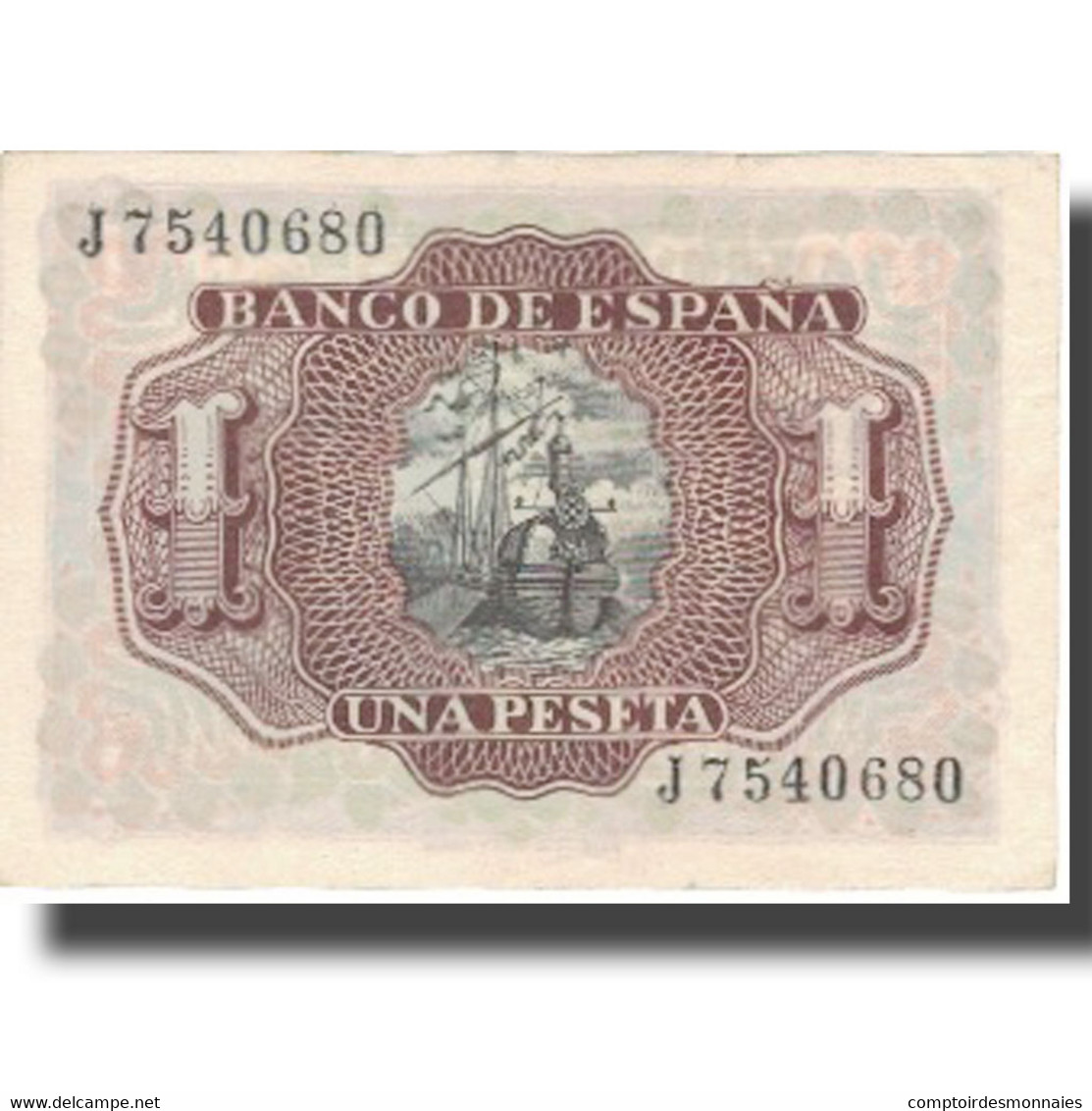 Billet, Espagne, 1 Peseta, 1953, 1953-07-22, KM:144a, SUP+ - [ 3] 1936-1975 : Régence De Franco