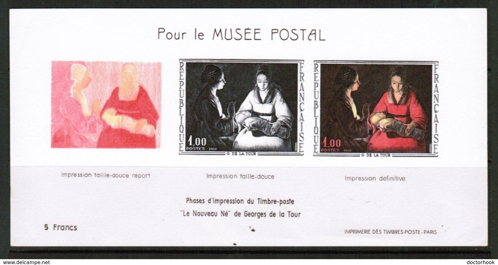 FRANCE  Scott # 1150 UNLISTED PROGRESSIVE PROOF SHEET Sheet Of 3 SS-340 - Proofs
